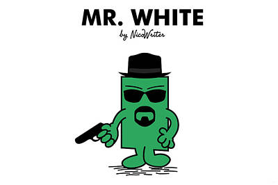 Mr Men Digital Art - Mr White by NicoWriter