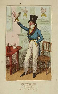 Corinthian Photograph - Mr Wrench As Corinthian Tom by British Library