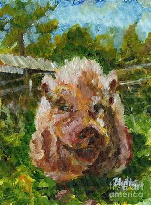 Potbelly Pig Painting - Mr. Wrigs by Blythe Quinn