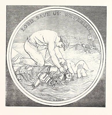 Mr. Wyons Design For The Liverpool Shipwreck And Humane Art Print