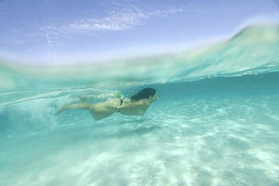 Nude Underwater Photograph - Underwater Shot Of Young Woman In Formentera by Nano Calvo