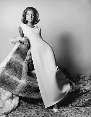 Evening Gown Photograph - Mrs. Alfred Gwynne Vanderbilt Modeling An Evening by Horst P. Horst