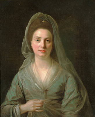 Shawl Painting - Mrs. Benjamin Cole, Nathaniel Hone, 1718-1784 by Litz Collection