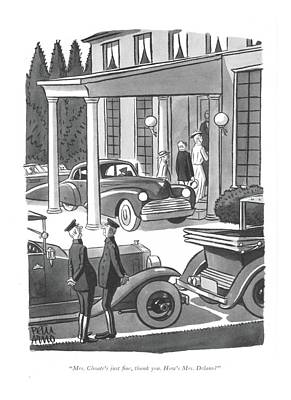 Mrs. Choate's Just ?ne Art Print by Peter Arno