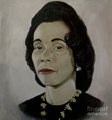 Painting - Mrs. Coretta Scott King by Chelle Brantley