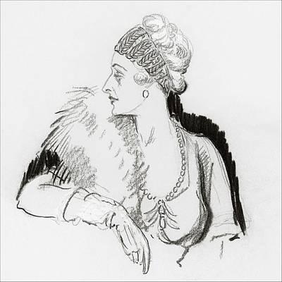 Mrs. Cornelius Vanderbilt Art Print