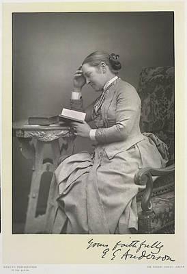Mrs E. Garrett Anderson Art Print by British Library