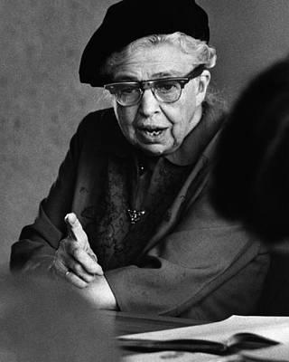 First Lady Photograph - Mrs. Eleanor Roosevelt by Rollie McKenna