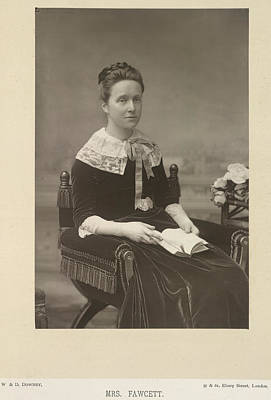 Of Women Photograph - Mrs Fawcett by British Library