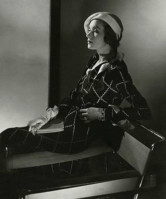 Diamond Bracelet Photograph - Mrs. Francis A. Wyman In A Crepe Dress by Edward Steichen