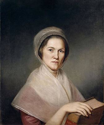 Realistic Photograph - Mrs. Francis Bailey, 1791 Oil On Canvas Pair To 403021 by Charles Willson Peale