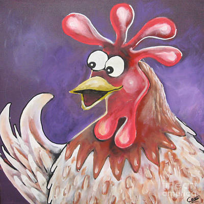 Painting - Mrs Hen by Caroline Peacock