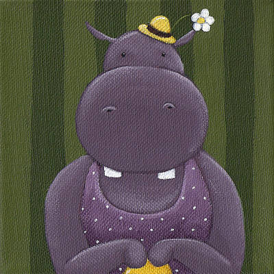 Hippopotamus Painting - Mrs. Hippo by Christy Beckwith
