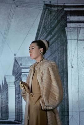 Photograph - Mrs. Hugh Chisholm Wearing A Fur Coat by John Rawlings
