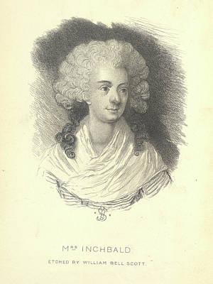 Mrs Inchbald Art Print by British Library