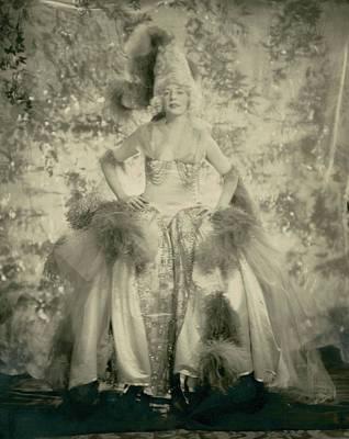 Hand Embroidery Photograph - Mrs. J. Philip Benkard Wearing A Hoop Skirt by Edward Steichen