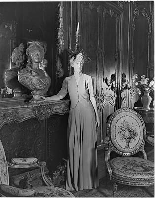 Photograph - Mrs. Jacques Vanderbilt In An Ornate Room by Horst P. Horst