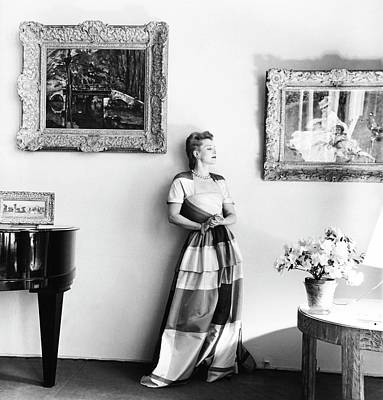 Piano Photograph - Mrs. James F. Marvane Wearing A Surah by Horst P. Horst