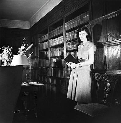 Photograph - Mrs. James Polk In Her Library by Horst P. Horst