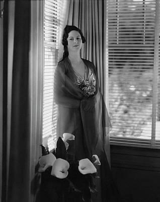 Venetian Blinds Photograph - Mrs. Jeremiah F. Sullivan In A Hostess Gown by Edward Steichen