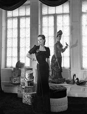 Photograph - Mrs. John C. Wilson Wearing A Dinner Dress by Horst P. Horst