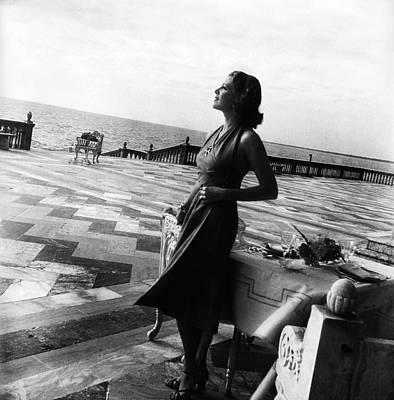 Photograph - Mrs. John Ringling North On The Terrace by Horst P. Horst
