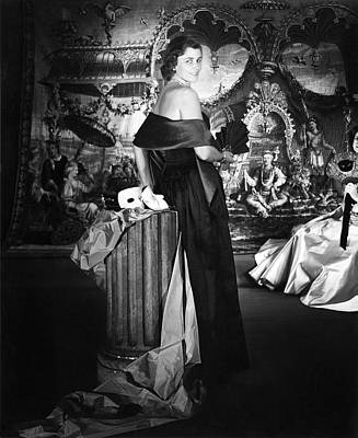 Photograph - Mrs. John T. Pratt Jr. Wearing A Satin Dress by Horst P. Horst