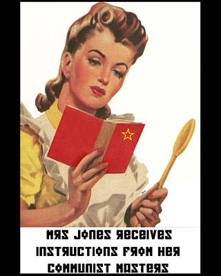 Communist Mixed Media - Mrs Jones Receives Her Instructions by Jonathon Prestidge