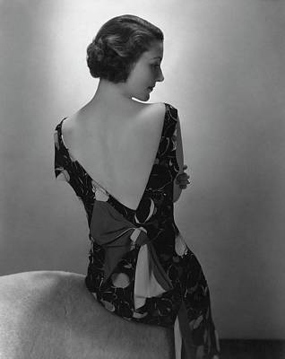 Stein Photograph - Mrs. Jules Glaenzer Wearing A Crepe Dress by Edward Steichen