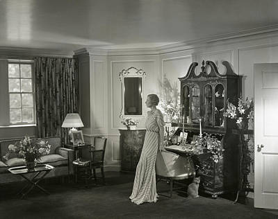 Mrs. Laurance H. Armour Standing In Her Apartment Art Print by George Hoyningen-Huene