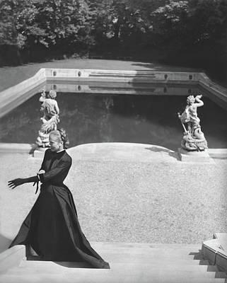 Photograph - Mrs. Marc Allegret Wearing An Evening Dress by Horst P. Horst