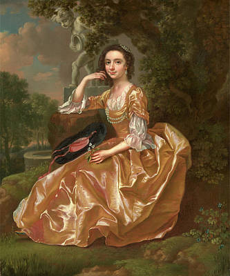 Statue Portrait Painting - Mrs. Mary Chauncey A Young Woman Signed And Dated In Yellow by Litz Collection