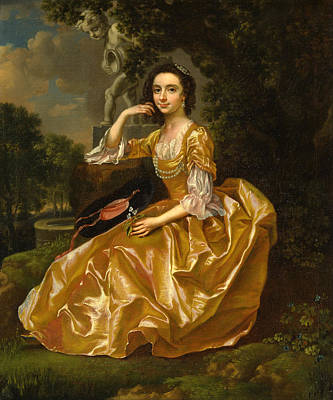 Chauncey Painting - Mrs. Mary Chauncey by Francis Hayman
