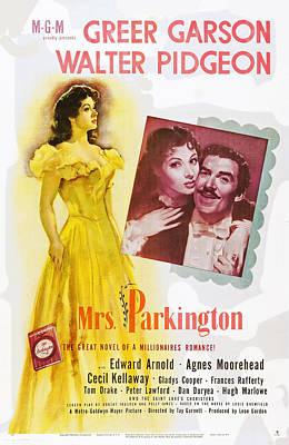 Mrs. Parkington, L-r Greer Garson Print by Everett