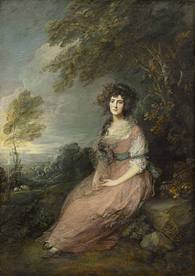 Mrs Richard Brinsley Sheridan Art Print by Thomas Gainsborough