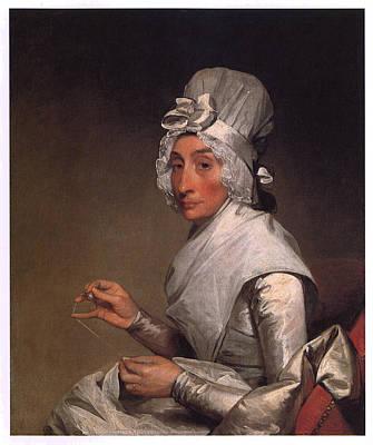 Mrs Richard Yates Art Print by Gilbert Stuart