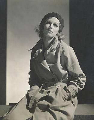 Mrs. Robert L. Stevens As Greta Garbo Art Print