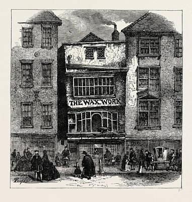 Salmon Drawing - Mrs. Salmons Waxwork, Fleet Street by Litz Collection