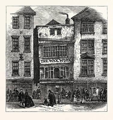 Mrs. Salmons Waxwork Fleet Street Palace Of Henry Viii Print by English School