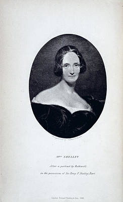 Portaits Photograph - Mrs Shelley by British Library