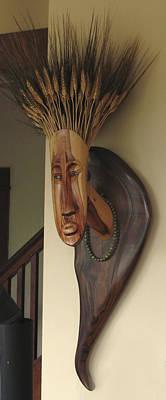 Sculpture - Mrs. Wheathead by Windy Dankoff