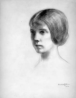 Kahlil Gibran Drawing - Mrs. Whitney by Kahlil Gibran