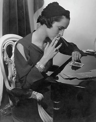 Wetmore Photograph - Mrs. William Wetmore Smoking by Edward Steichen