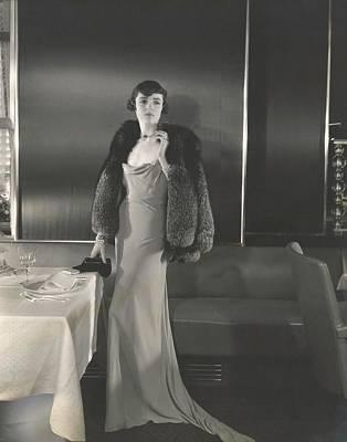 Full Rainbow Photograph - Mrs. William Wetmore Wearing A Gunther Dress by Edward Steichen