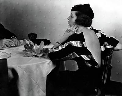 Mrs. William Wetmore Wearing An Augusta Bernard Art Print