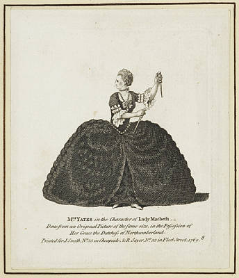 Mrs Yates In The Character Of Lady Macbet Art Print by British Library