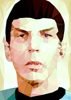Geometric Digital Art Digital Art - Mr.spock by Daniel Hapi