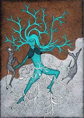 Jangarh Singh Shyam Painting - Ms 46 by Mayank Shyam