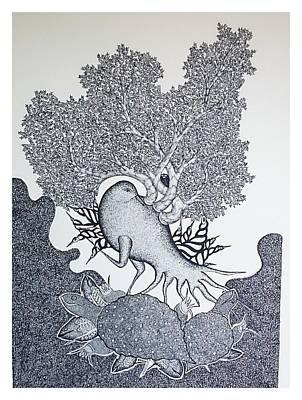 Jangarh Singh Shyam Painting - Ms 61 by Mayank Shyam