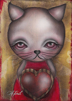 Painting - Ms. Cat by  Abril Andrade Griffith